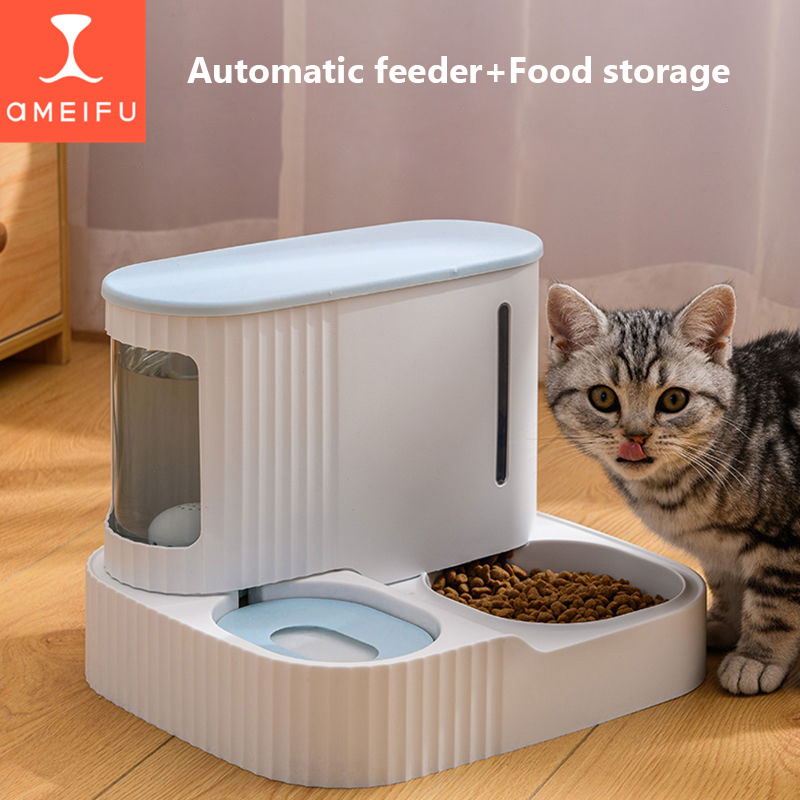 Pet Cat food bowl 3LDog Automatic Feeder with Dry Food Storage Cat Drinking Water bowl High Quality Safety Material pet supplies 6