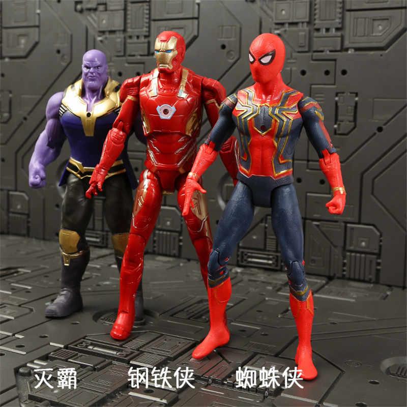מארוול נוקמי 3 אינפיניטי מלחמת סרט אנימה סופר מגיבורי קפטן אמריקה איש ברזל תאנסו hulk thor גיבור פעולה איור צעצוע