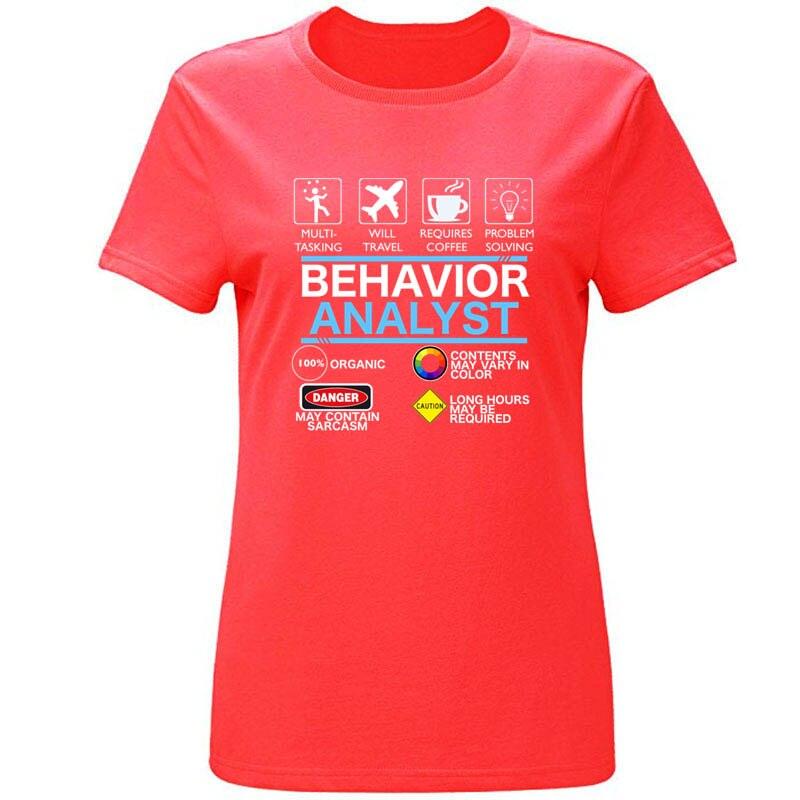 Nova moda analista de comportamento dos homens tshirt algodão em torno do pescoço carta t camisa para homem feminino tamanho S-3xl t topo