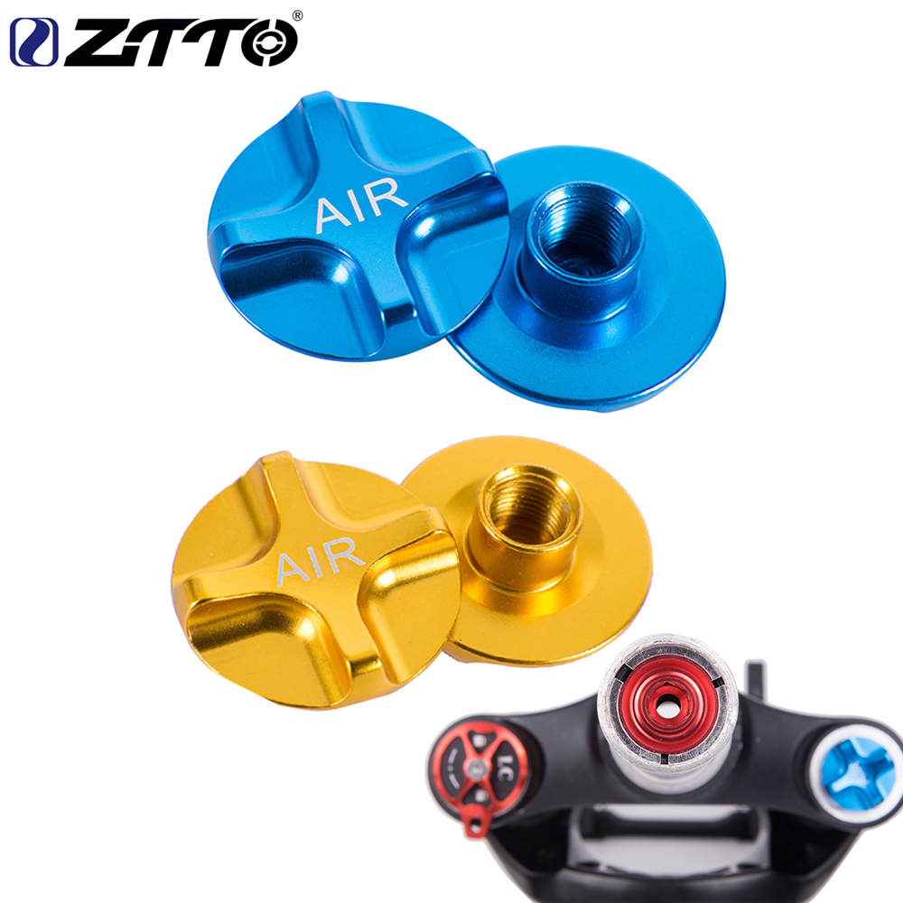 ZTTO MTB Bike suspension Mountain Bicycle Air Gas Shcrader American Valve Caps Bike Suspension Fork Bicycle Front fork parts