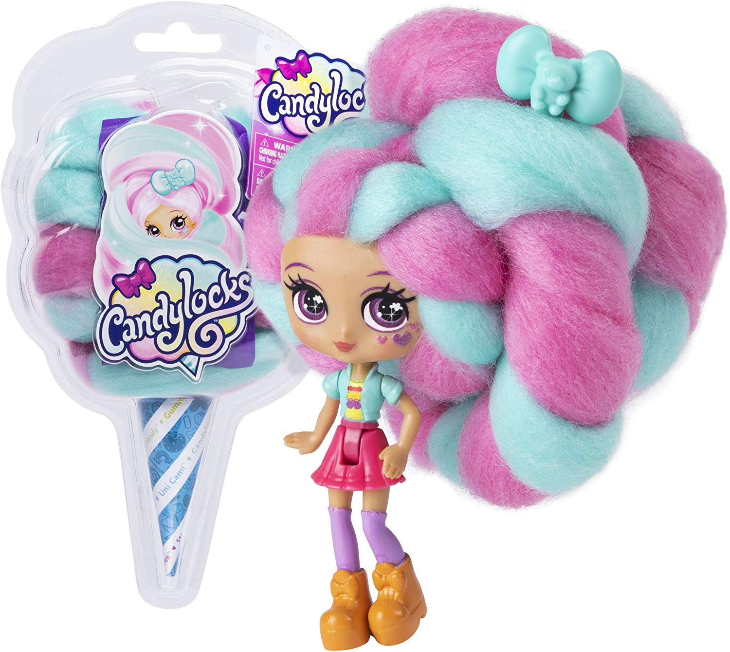 Candylocks Cotton Candy Hair Doll Toy For Girl Color DIY Scented Surprise Doll With Accessories LOL Hairstyle Collection Gift