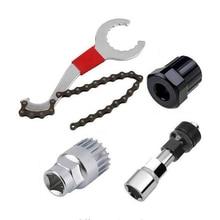 цена на Multifunctional Bicycle Repair Tool Kits Portable Bottom Bracket Wrench Cassette Freewheel Bottom Bracket Bike Chain Remover