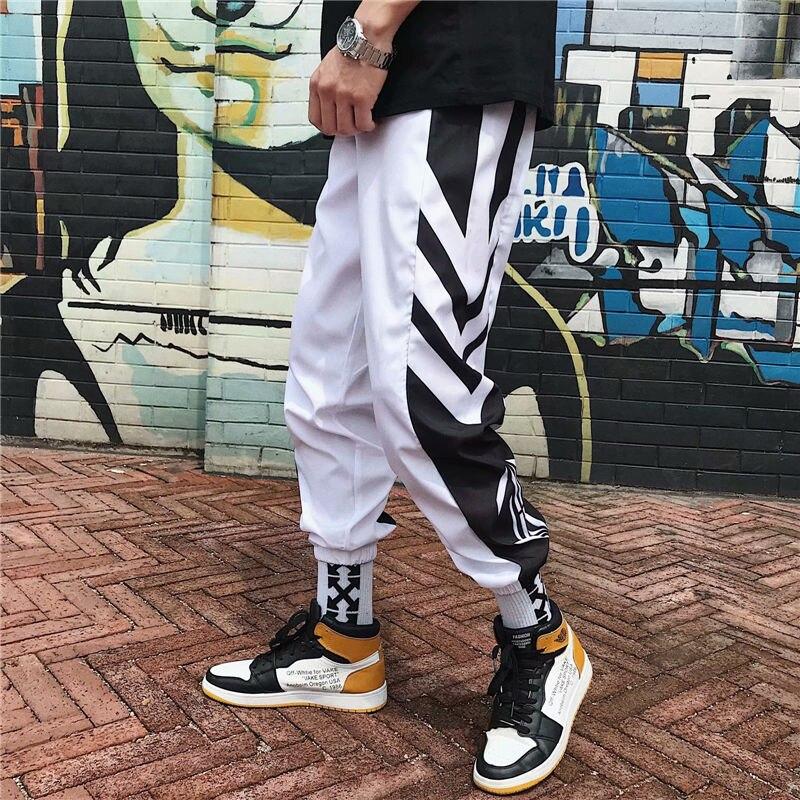 Pants Men's Korean-style Trend Capri Pants Popular Brand Beam Leg Casual Pants Summer Online Celebrity INS Athletic Pants Men An