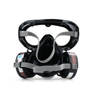 Image 4 - 1Set 9600A One Piece Full Face Respirator Dust Gas Mask for Painting Spary Smoke Fire Synthesis Protection E65A
