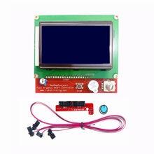 Impressora 3d controlador inteligente rampas 1.4 lcd 12864 painel de controle lcd tela azul