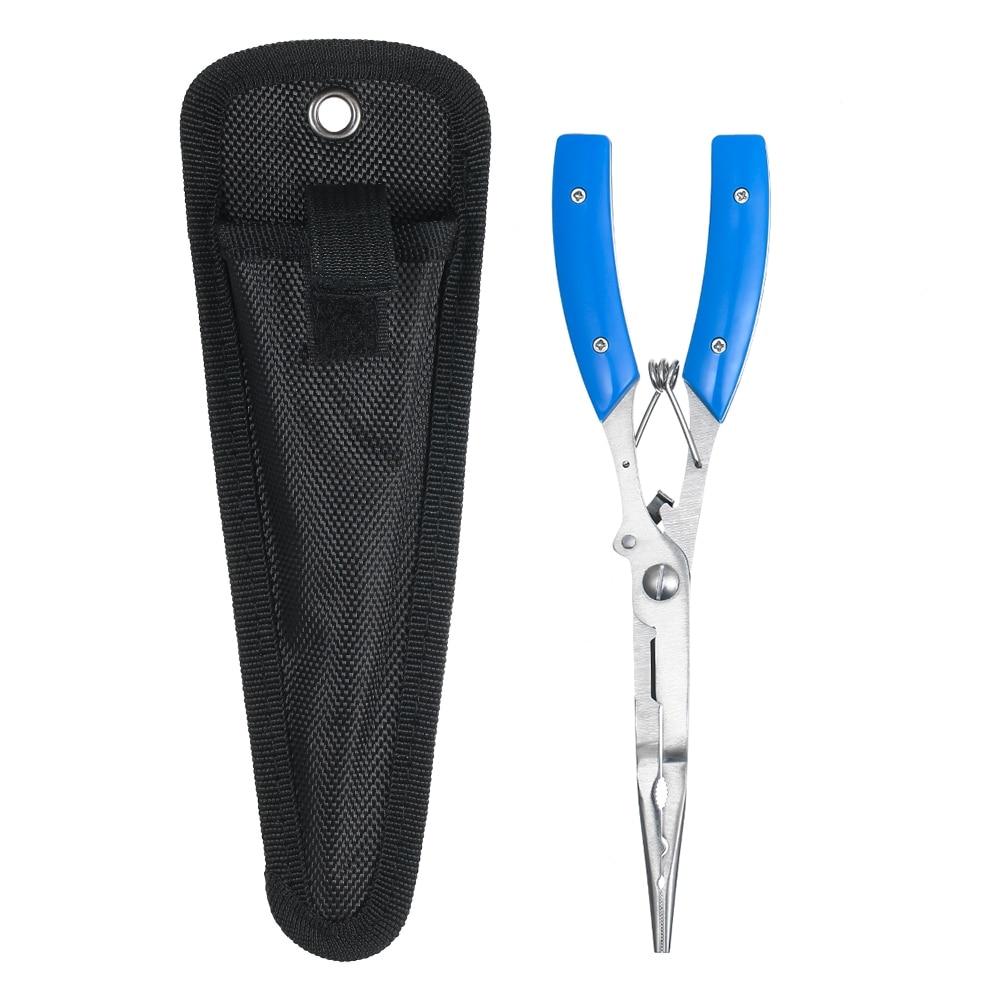 Lixada Fishing Plier Multifunctional Scissor Braid Line Lure Cutter Stainless Steel Fishing Carp Clip Handle Pliers Accessories