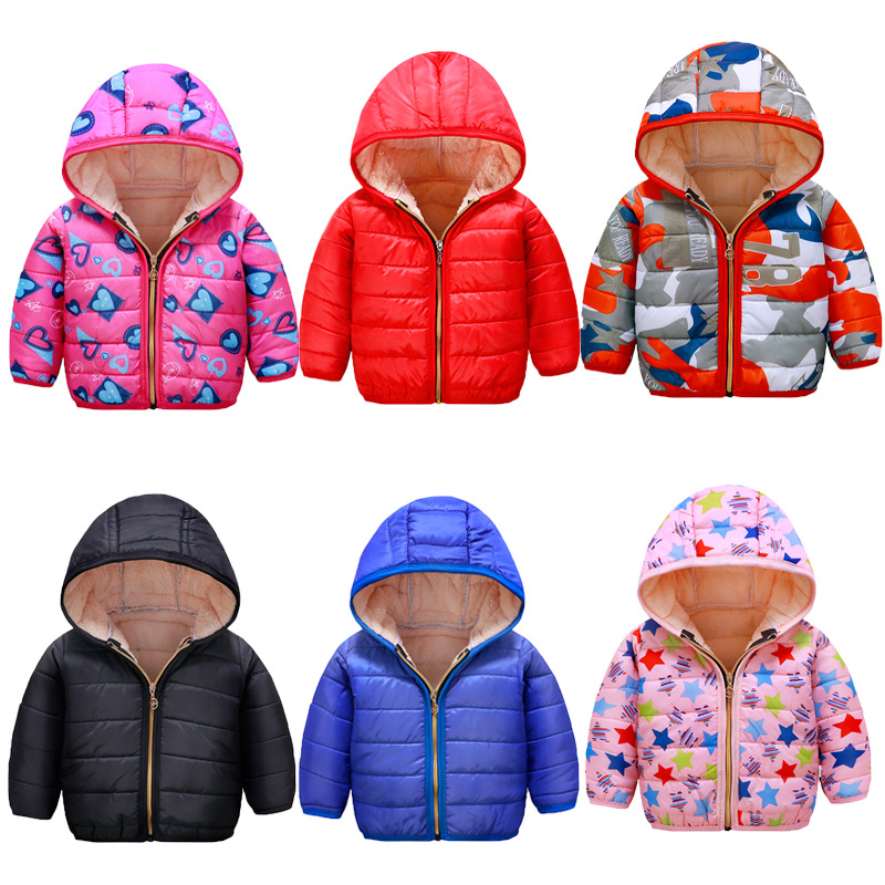 Baby Boys Jackets 2019 Autumn Winter Kids Jacket Girls Warm Thick Hooded Coat Children Outerwear 1-8Y Toddler Girl Boy Clothing