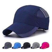 Наружная быстросохнущая защита от ультрафиолета, от Солнца шляпа, бейсбольная кепка головные уборы Спортивная одежда для улицы с регулируемой застежкой сзади