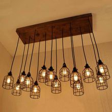 Industrial Vintage Retro Iron Cage Hanging Ceiling Pendant Lamp Shade Loft Light(China)