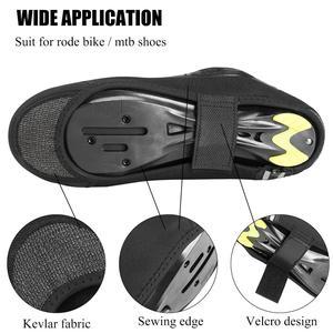 Image 2 - ROCKBROS cubierta de calzado para bicicleta, zapatos chanclos para ciclismo de montaña, resistentes al viento, para invierno