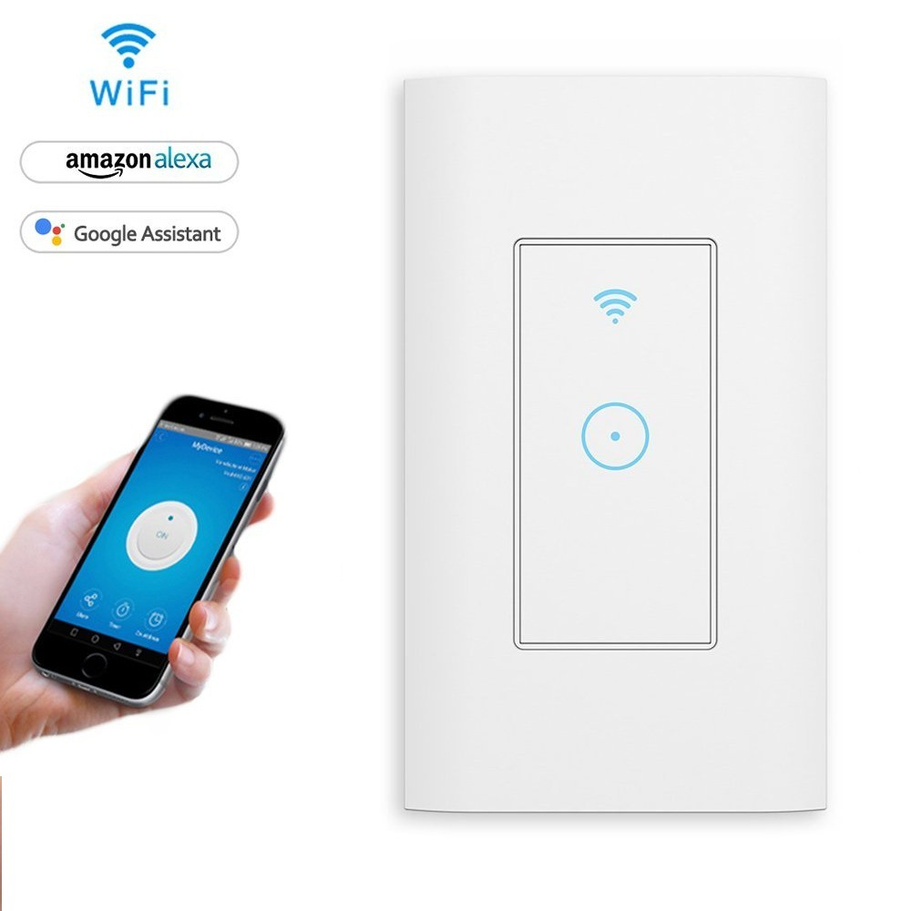US Standard Smart WiFi Timing Wall Switch Remote Apple Android Mobile Phone Control Graffiti Unisex APP