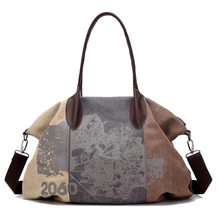 Best-selling European and American Fashion trend Canvas print woman bag, Large capacity Leisure travel, Shopping cross-body bag