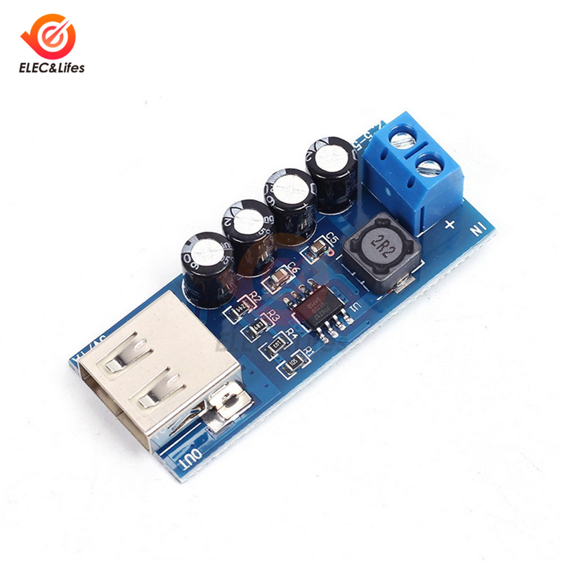 XH-M352 DC-DC 5V 1A de baja potencia de refuerzo de FP6717 Módulo lineal rectificador USB de carga de la batería de litio Módulo de cargador