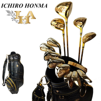 Подлинные изделия полный набор клюшек для гольфа 24K позолоченные желоба/водители/фарватер/Hybirds/утюги набор 13 шт. с сумкой для мяча