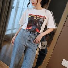 Высококачественная футболка из 100% хлопка Женская Повседневная