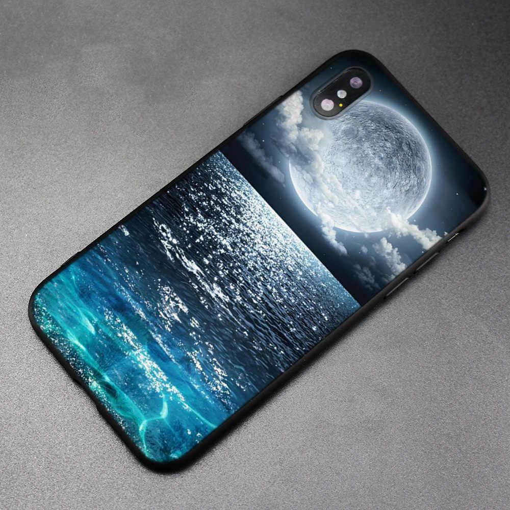 Nhiều Màu Sắc Mặt Natu Đen Cao Su Mềm TPU Ốp Lưng Dẻo Silicon Dành Cho iPhone X XS XR XS 11 11Pro Max 7 8 6 6S 5 5s 5C SE Plus Fundas CapA
