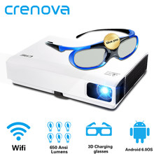 CRENOVA 2019 Newest Laser Projector With Android WIFI Bluetooth DLP Projector For Home Theater Movie Beamer Shutter 3D Proyector(China)