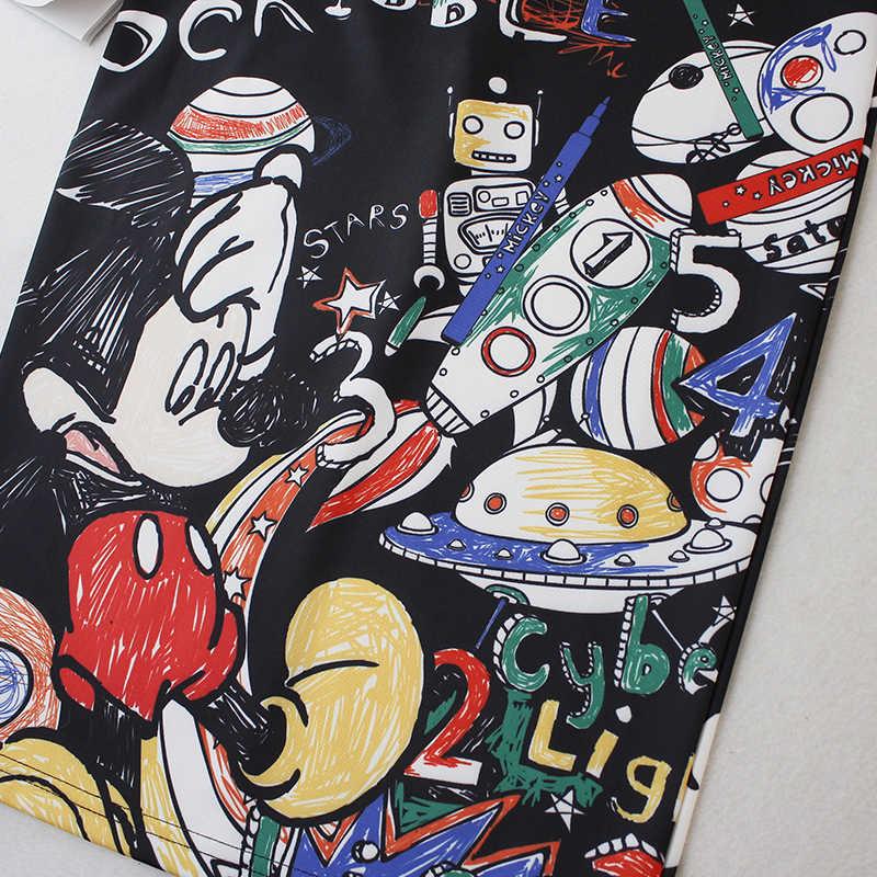 Vrouwen Kokerrok Zomer Graffiti 2020 Nieuwe Cartoon Mouse Print Hoge Taille Slim Rokken Jong Meisje Plus Size Vrouwelijke falda LS600