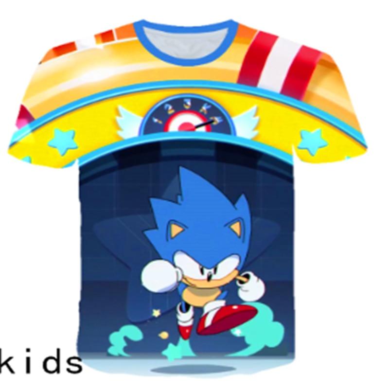 3D In Hình Trẻ Em Sonic The HEDGEHOG Bé Trai Bé Gái Áo TEE Thiết Kế Hình Hoạt Hình Ngộ Nghĩnh Áo Thun Trẻ Em Mùa Hè Quần Áo Thường Cho Bé Tập Đi