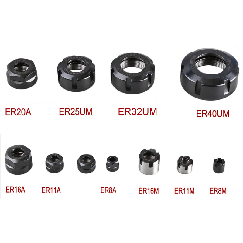 1pc ER8 ER11 ER16 ER20 A M Nut CNC Router Engraving ER Collet Nut Clamping Cnc Milling Turning Collet Chucks