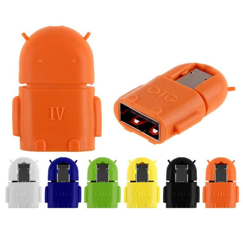 Cute Android OTG Micro USB Conversion Head Usb Tablet Mobile Phone U Disk Connection V8 Card Reader OTG Adapters Dropship New