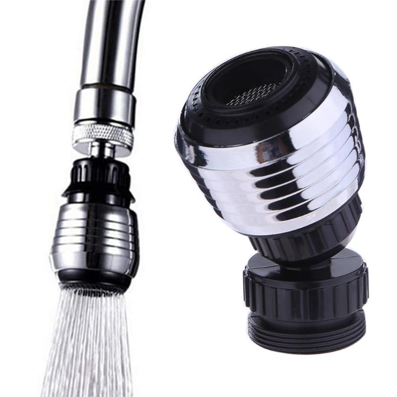 Universal Plastic 360 Degrees Rotary Kitchen Faucet Shower Head Economizer Filter Water Stream Faucet Pull Out Bathroom