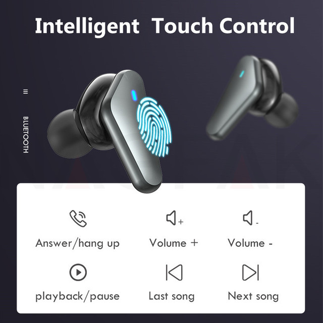 TWS Bluetooth 5.0 Headphones Wireless Waterproof Earphones Noise Cancelling 9D Stereo Sports Earbuds Headsets With Microphone 2