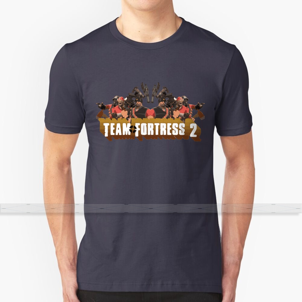 <font><b>Team</b></font> <font><b>Fortress</b></font> <font><b>2</b></font> Poster T <font><b>shirt</b></font> Men's Women's Summer 100% Cotton Tees Newest Top Popular T <font><b>Shirts</b></font> tf2 <font><b>team</b></font> <font><b>fortress</b></font> <font><b>2</b></font> cool image