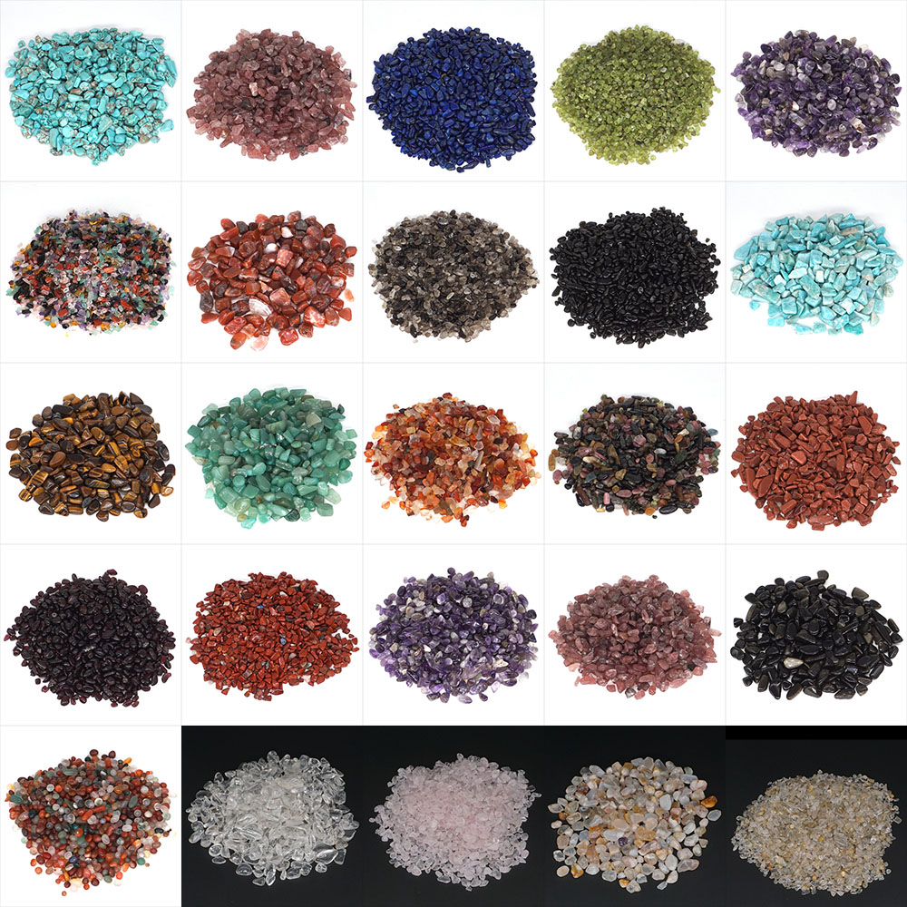 50g 100g Natural Stones Rocks Crystal Chip Minerals Reiki Healing Raw Gravel Specimen Gemstones Home Aquarium Viewing Decoration