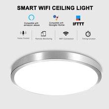Умный домашний умный светильник, умный wifi потолочный светодиодный светильник, Лампа 48 Вт с регулируемой яркостью, пульт дистанционного упр...