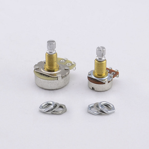 【Сделано в Korea】Alpha латунный вал потенциометра (горшок) для электрической гитары Бас A250K/B250K/A500K/B500K