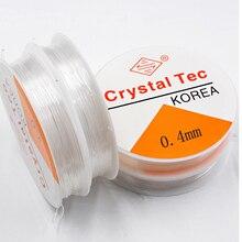NEW1 rulo 0.4-1.0MM şeffaf esnek elastik iphalat hattı kablosu boncuk boncuk takı yapımı için DIY bilezik kolye