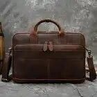 Мужской портфель MAHEU из натуральной кожи, сумка для ноутбука 15,6 дюйма, сумка для компьютера из воловьей кожи, мужская сумка из коровьей кожи