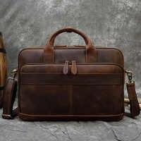MAHEU-maletín de piel auténtica para ordenador portátil para hombre, maletín de 15,6 pulgadas para Doctor y oficina