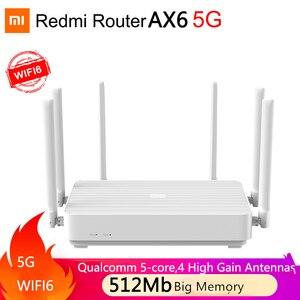 Nowy Xiaomi Redmi Router AX6 WiFi 6 1800 5-rdzeniowy 512Mb pamięci Mesh Home IoT 4 wzmacniacz sygnału 2.4G 5GHz oba 2 dwuzakresowe OFDMA MI