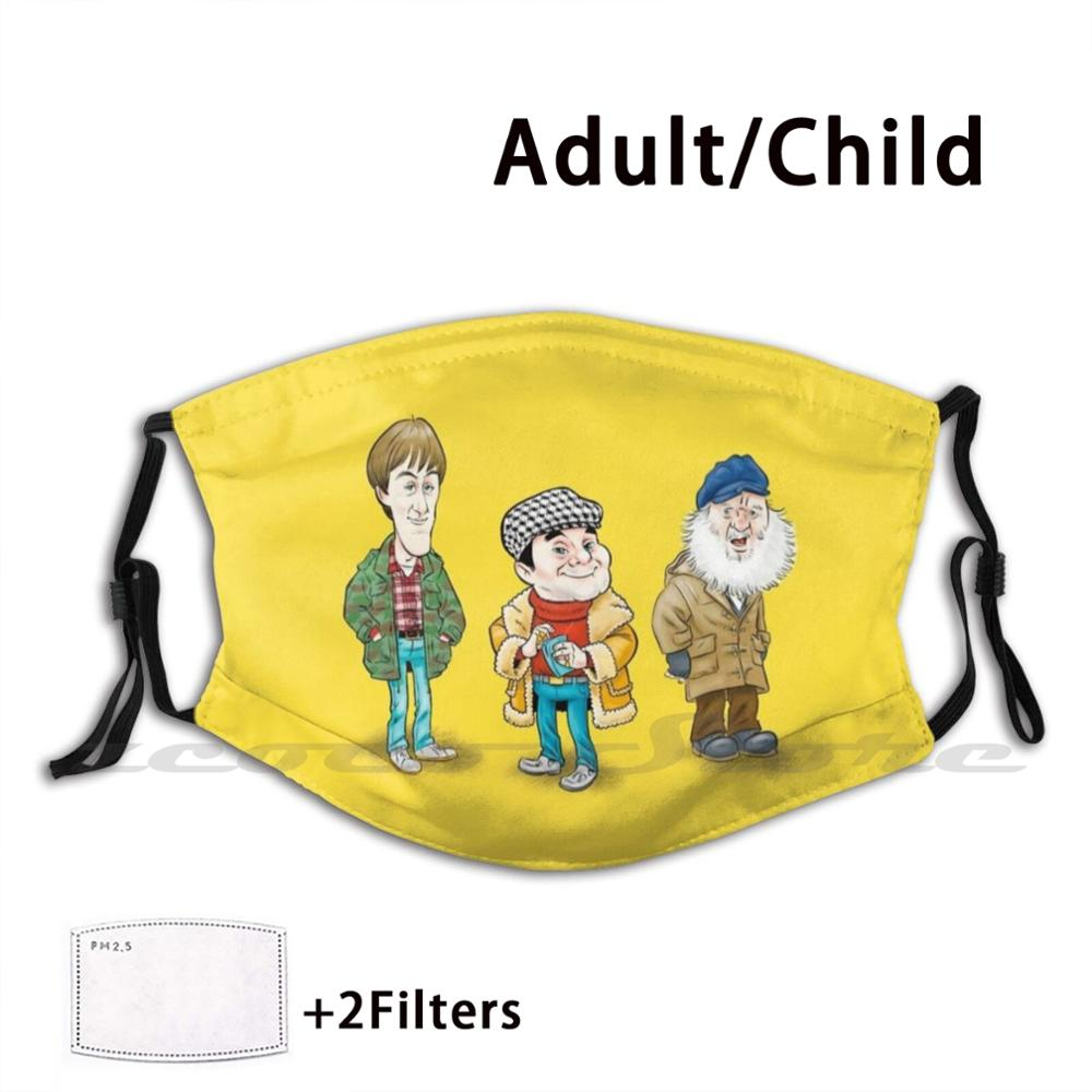 Trotters Mask Cloth Washable DIY Filter Pm2.5 Adult Kids Only Fools And Horses Del Boy Plonker Rodney Trotter Trotter