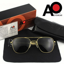 Qualidade superior óculos de sol polarizados do exército americano militar piloto ao óculos de sol dos homens marca designer condução masculino op55 op57