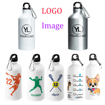 Customize Water Bottle Personalized Sports metal Bottle  Print Of Logo Feature Your Design Advertising DIY Text Name 1