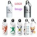 Индивидуальные бутылки для воды персонализированные спортивные металлические бутылки печать логотипа особенности вашего дизайна рекламы...