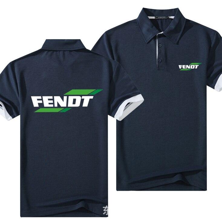 מותג עבור FENDT פולו חולצת גברים כותנה קצר שרוול טי חולצות Mens מזדמן קיץ לנשימה מוצק צבע Polos חולצה