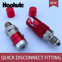 Haokule-titânio/alumínio an-3 an3 linha de freio fluido acessórios de desconexão rápida kits de adaptador