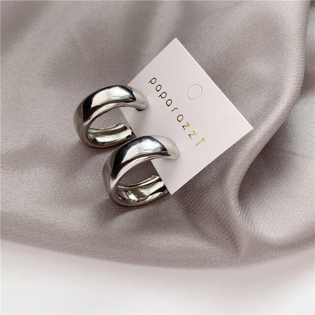 gold or silver small wide hoop earrings 6