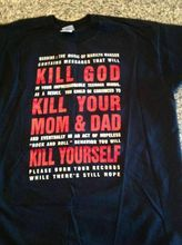 Rare Marilyn Manson Black T Kill God Size Reprint All - SHIRT! High Quality T-Shirt