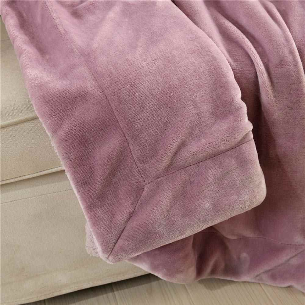 Blass Rosa Feste dicke Winter Werfen Plaids Decke warme Sherpa Berber Fleece Bettwäsche Twin Queen-Size Bettdecke