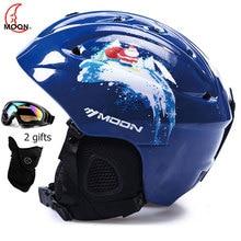 Moon сертификат СЕ ПК+ EPS взрослый лыжный шлем Мужчины Женщины катание скейтборд шлем снежные виды спорта сноуборд шлемы с очками
