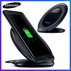 Oryginalny szybka ładowarka bezprzewodowa QI dla Samsung Galaxy S8 S9 S10 Plus G9500 G9300 G9350 S6 S7 krawędzi uwaga 8 uwaga 9 SM-G965F EP-NG930