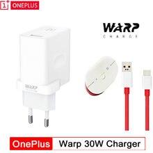 Cabo de carregador oneplus warp original, cabo 30 w, carregador ue, adaptador de concha rápida 30 w w para oneplus 7 pro