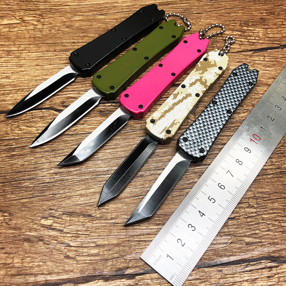 BMT Micro Mini Tactical Survival Folding Knife 440C Aluminum Handle Outdoor Pocket Camping Hunting Keychain Knife EDC Tools(China)