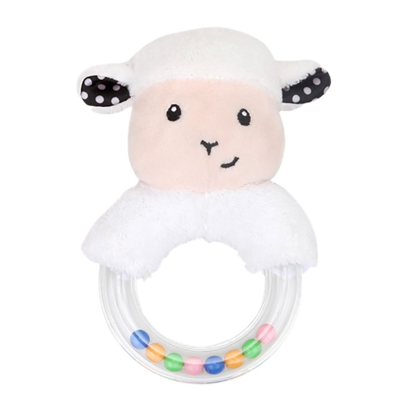 New 0-24 Months Cute Baby Rattle Toys Rabbit Plush Baby Cartoon Bed Toys For Newborn Educational Toy Rabbit Bear Hand Bells Toys