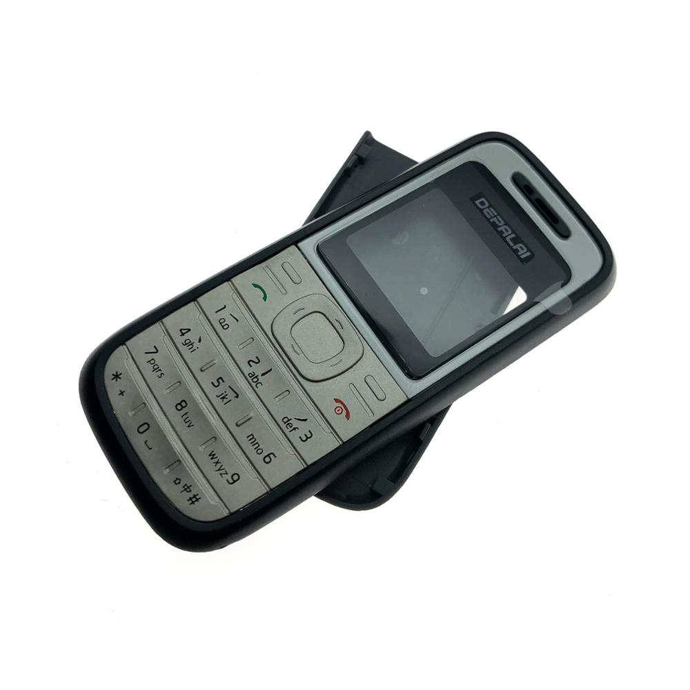 Complete front cover RM <font><b>1200</b></font> keyboard for <font><b>Nokia</b></font> <font><b>1200</b></font> battery back cover High quality <font><b>housing</b></font>+Keypad image